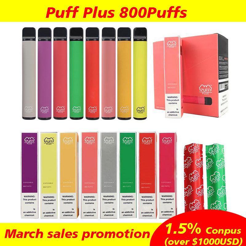 Cigarettes électroniques Bar Puff Plus 800 Puffs POD POD POD Stick Vape Vape Vapor