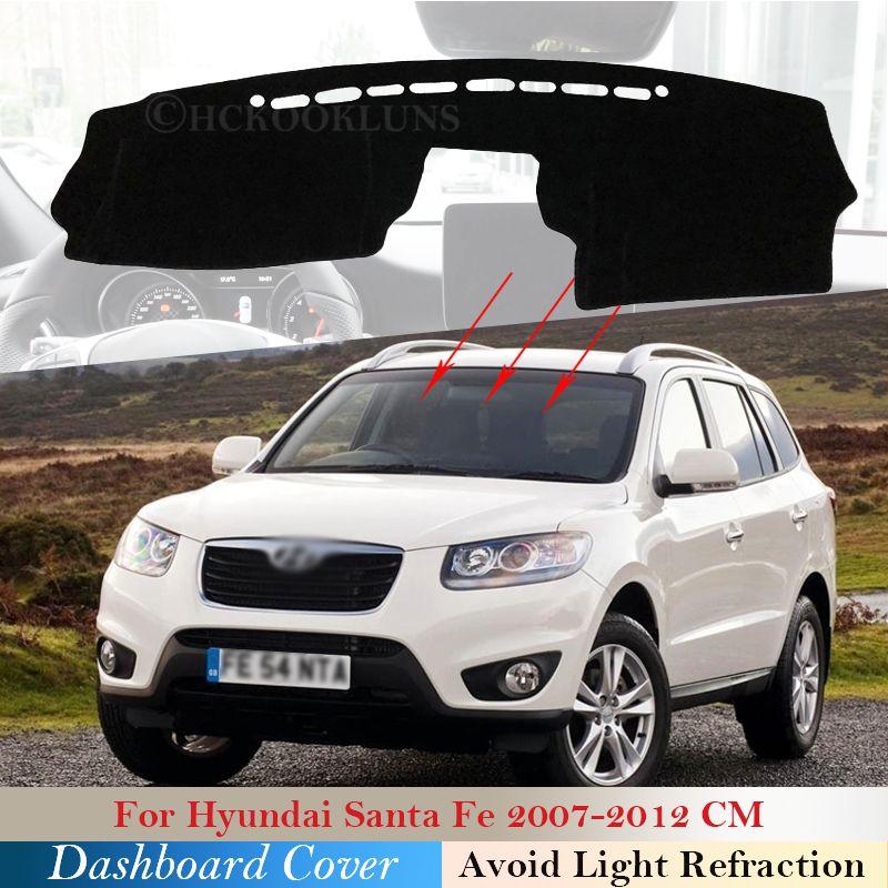 Защитная колодка для приборной панели для приборной панели для Hyundai Santa Fe 2008 2008 2009 2010 2011 2012 CM CM Аксессуары для автомобилей Dash Board Sunshade Carpet