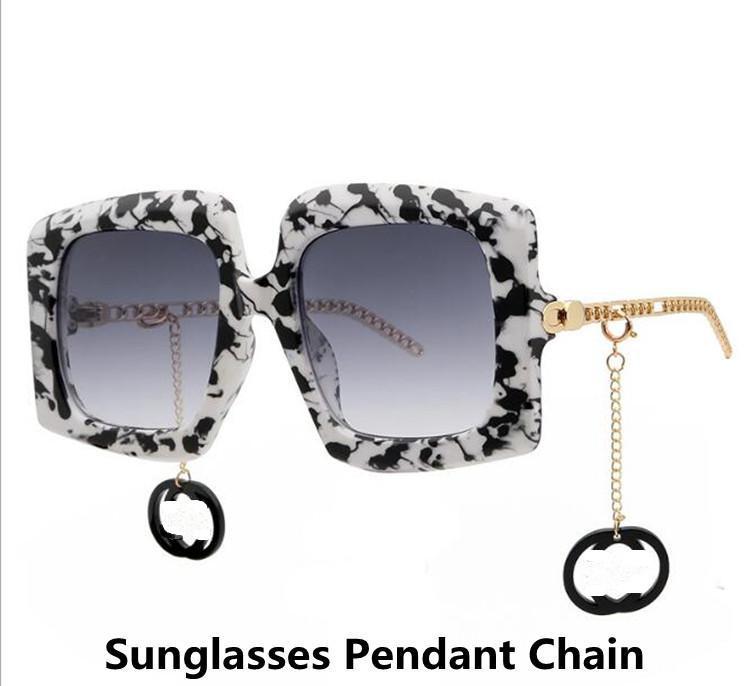 فاخر مصمم أزياء إلكتروني النظارات الشمسية الملحقات قلادة مع حلقة هلام السيليكا للزينة النظارات الشمسية زخرفة