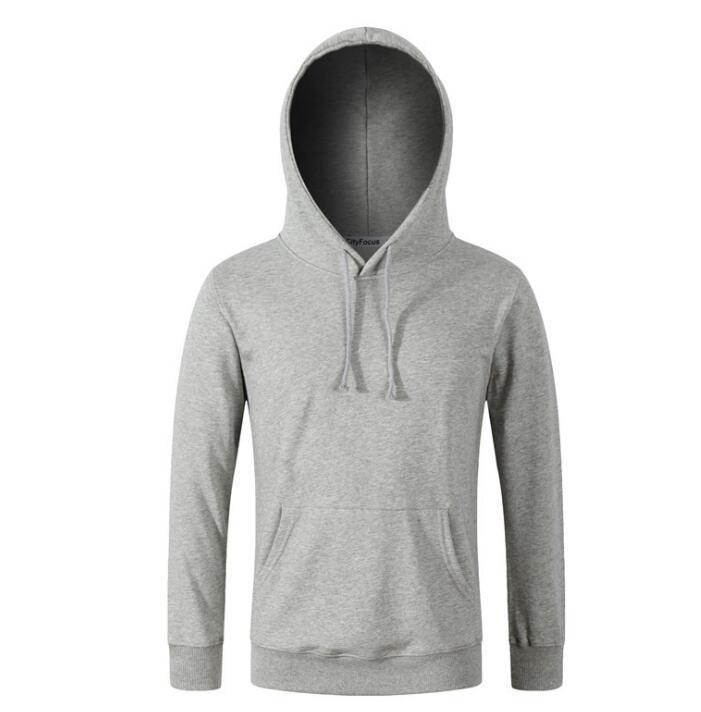 Neue Herren Hoodies Massivfarbe Schwarz Weiß Grau Blue Men S Jacke Langarm Frühling und Sommer Hip Hop Street Sweatshirt