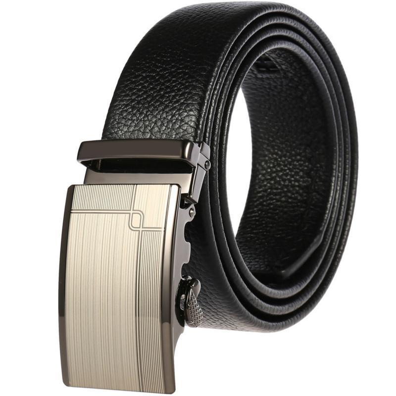 Cinturones Automático Hebilla Hombre Cintura Línea de plomo Cierre de cuero Cinturón Casual Joker ACCESORIOS MASCULARES DESIGNER VENDER LEA TALA