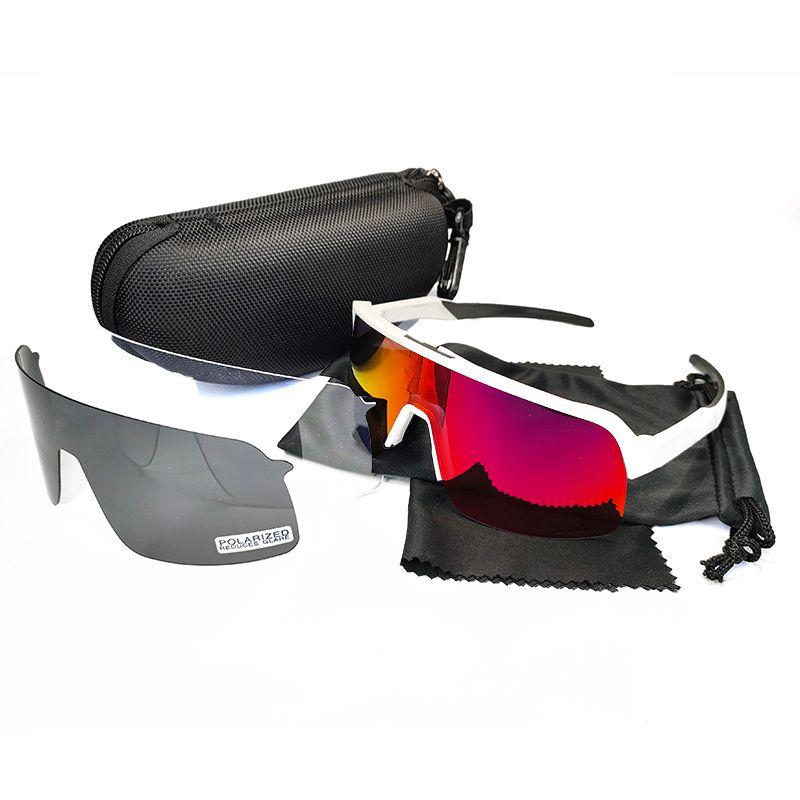 أسود عدسة الاستقطاب الدراجات نظارات الشمس الرجال النساء الرياضة دراجة دراجة bicicleta نظارات الدراجات نظارات نظارات uv400 3 عدسة مع القضية