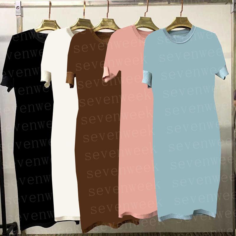 Tasarımcılar Mektuplar Kadın Örmek Yelek Elbiseler Moda Kolsuz Casual Gömlek Elbise Bayanlar Parti Kısa Etekler Giyim