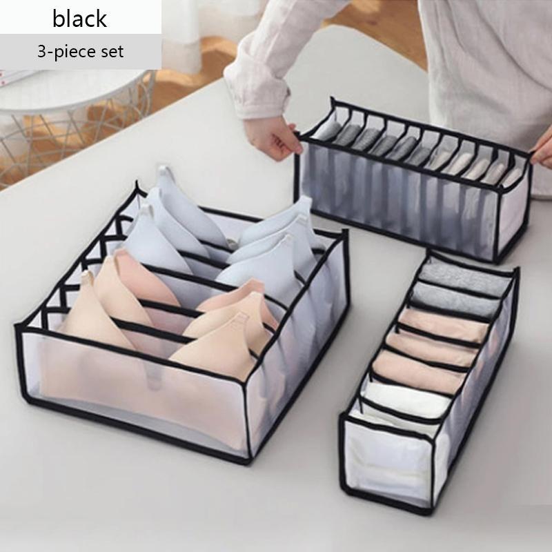 BH Aufbewahrungsboxen Unterwäsche Kleidung Organizer Schublade Nylon Teiler Schrank Organizer Für Faltkassen Socken Shorts
