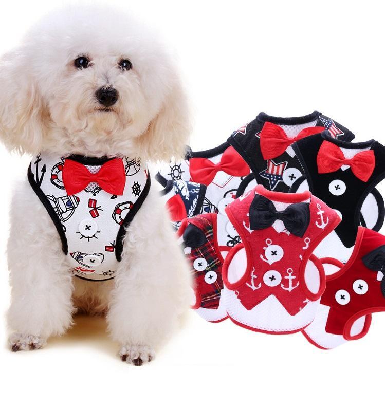 Kleine Hundeabendkleid Bowknot Weste Harness Leashes Set Walking Pet Supplies