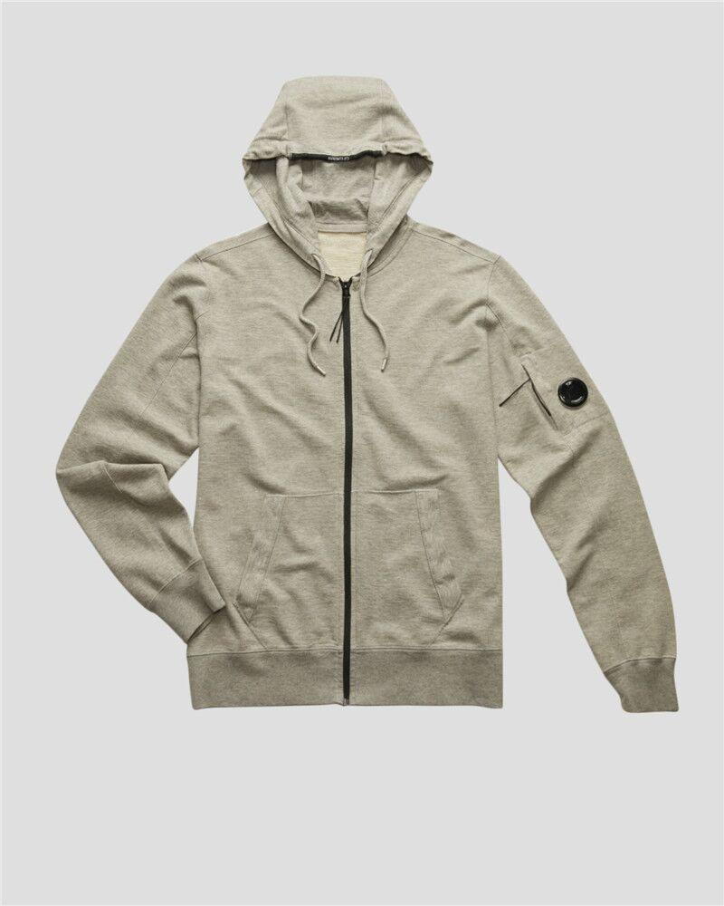 Europe Marque 2 couleurs CP BB Sweats à capuche à capuche à capuche à glissière sur la manche Hommes Sweatshirts Hommes Tirez sur une veste extérieure Taille M-XXL