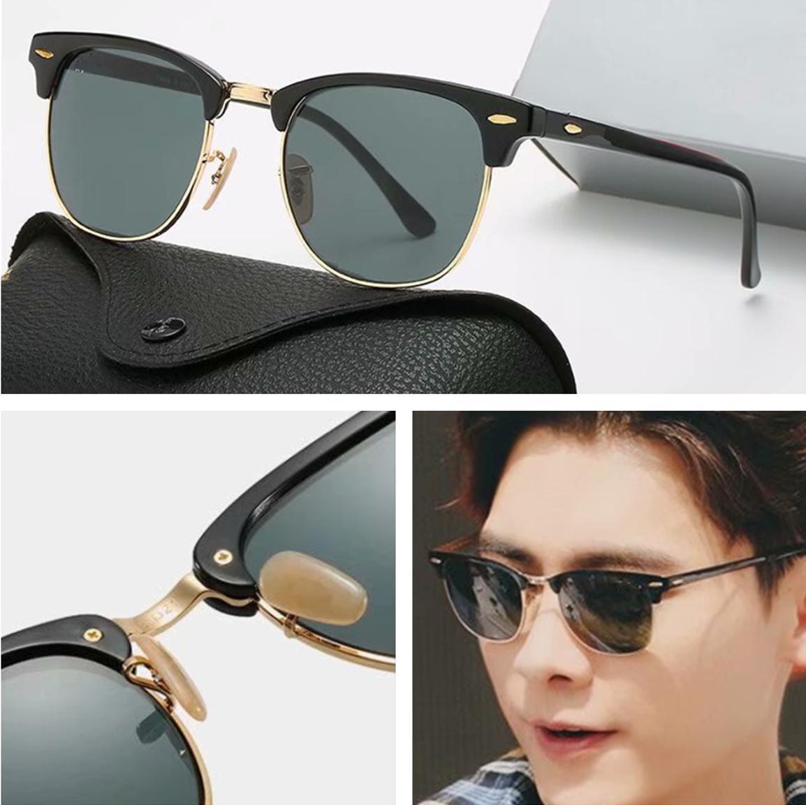 الفاخرة الجديدة ماركة الاستقطاب مصمم نظارات الرجال النساء الطيار النظارات الشمسية uv400 نظارات نظارات إطار معدني البولارويد عدسة نظارات الشمس