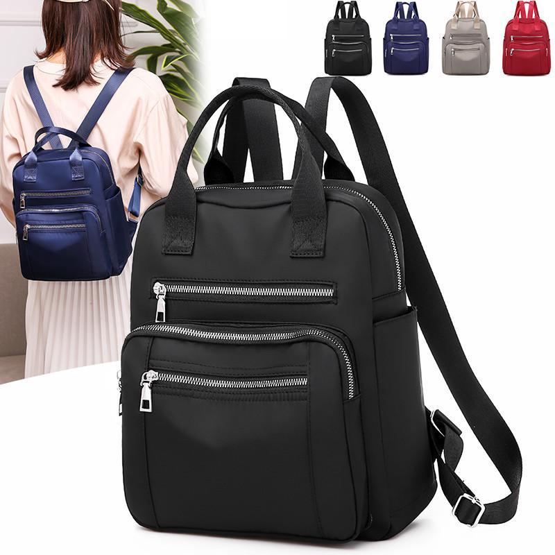 women's travel waterproof backpack, leisure shoulder bag, Oxford, large capacity, black, 2020 backpack trekking bags J0603