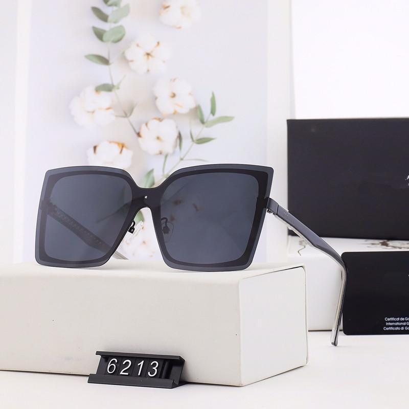 여름 브랜드 큰 프레임 선글라스 야외 사각형 금속 태양 안경 고글 UV400 보호 안경 6213 Oculos de sol WX5