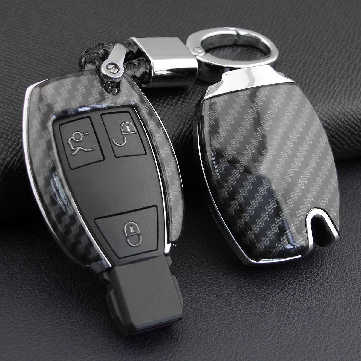 Chave de Chave de Corrente de Chave de Fibra Fibra de Carbono FOB FOB para Mercedes-Benz W205 W212 X253 W176 W246 W204 W222 W463 X156