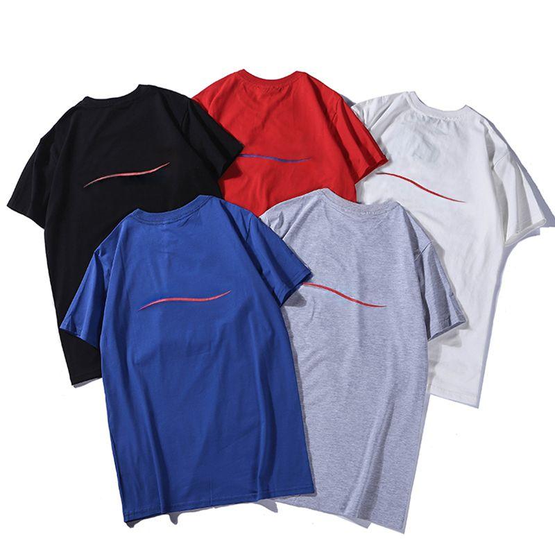 Erkekler Yaz Kısa Kollu Erkek Casual T-shirt Kadınlar Gevşek En popüler Ins Sıcak Kalça -hop Boy Beş Renkler Moda Serin Yüksek Kaliteli Mektup Baskı