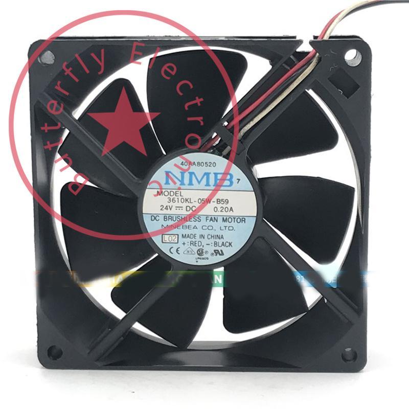 Original 3610KL-05W-B59 24V 0.20A 3Wires Inverter Refrigerador refrigerador 92 * 92 * 25mm 9cm 9225