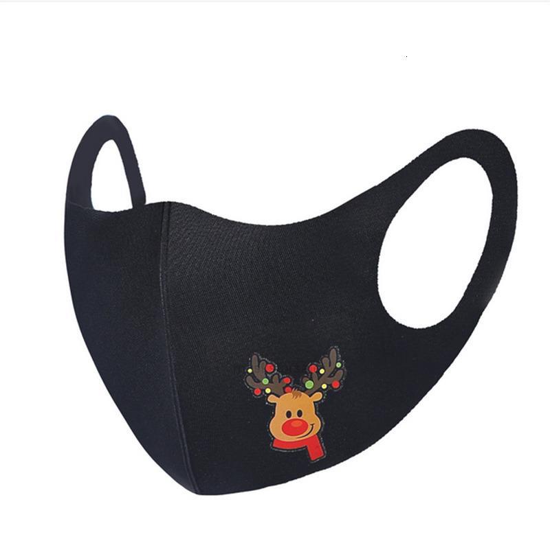 أسود 500 قطع قناع الوجه عيد الميلاد قابلة لإعادة الاستخدام قابلة للغسل الكبار أقنعة faceMask شجرة عيد الميلاد سانتا بند شرفة ثلج طباعة كارتون XH9R97