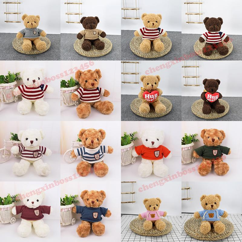 30cm 새로운 테디 베어 인형 봉제 장난감 소프트 크리스마스 인형 동물 장난감 어린이 생일 선물 커플 고백 선물 용품 도매