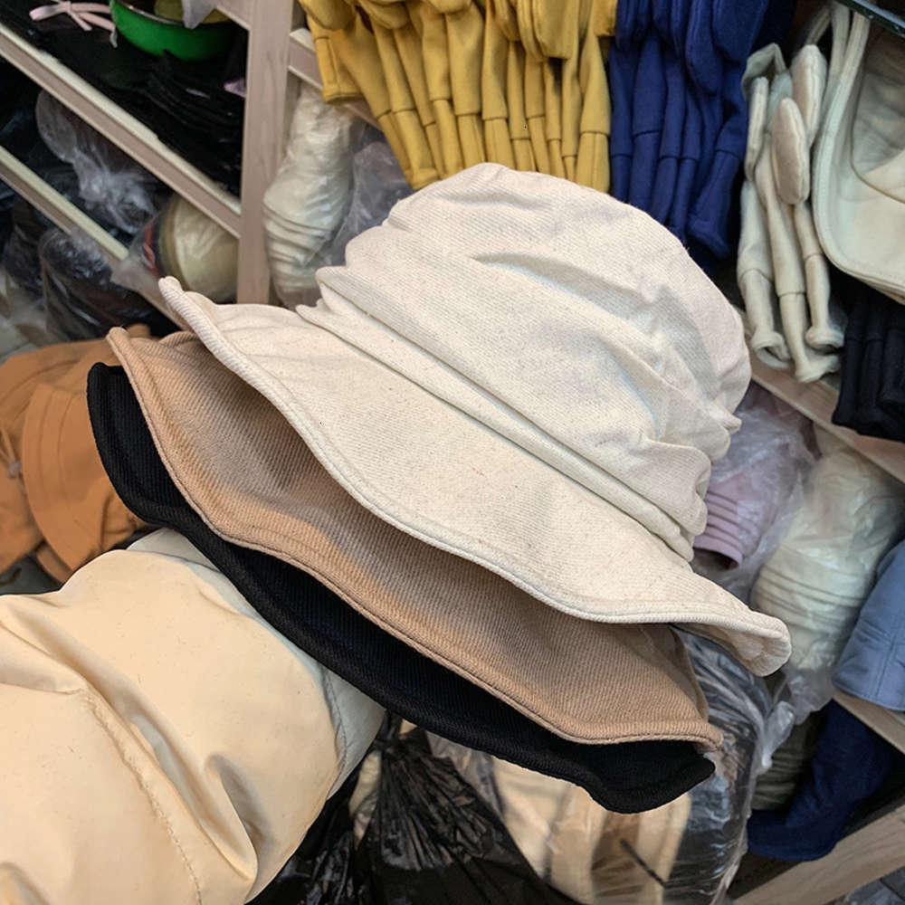 Лето и 2020 новая пружинная дышащая шляпа промахов сплошной плиссированной рыбаки