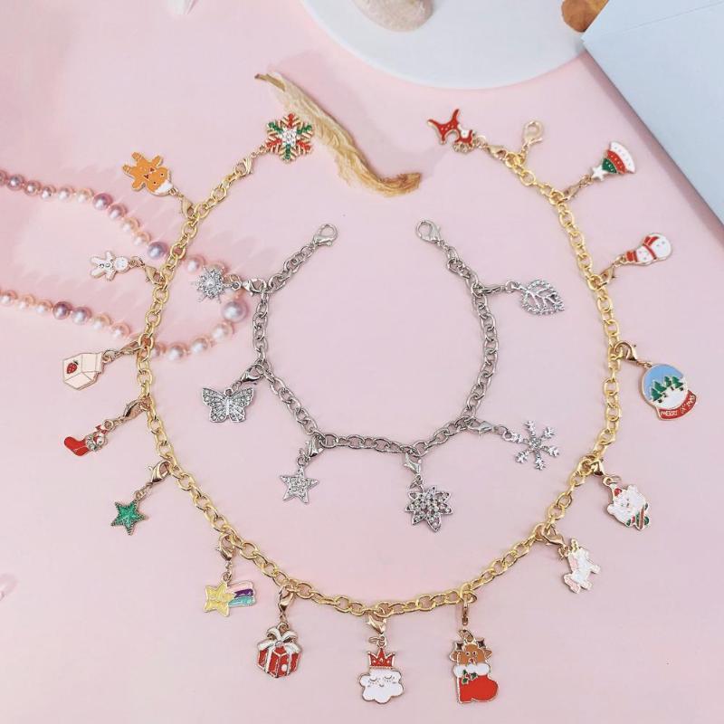 Küpe Kolye 1 Takım Noel Advent Takvim Kar Tanesi Yaprak Beş-Sivridi Yıldız Tatlı Dekorasyon Bilezik Parti için