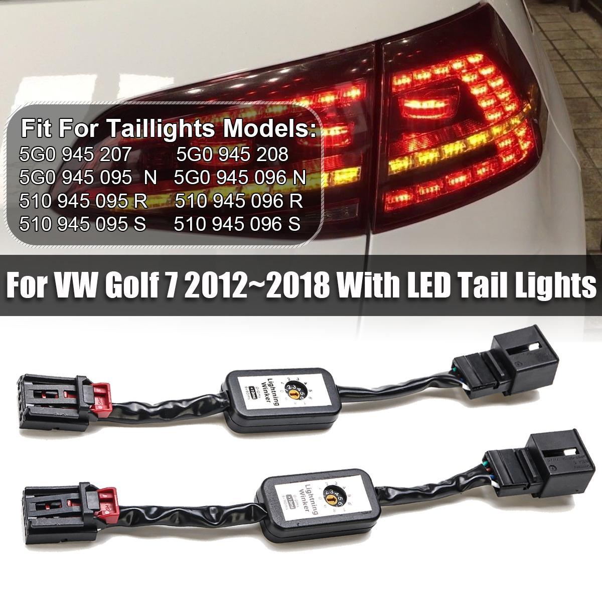 مؤشر السيارة LED الضوء الخلفي الوظيفة الإضافية سلك كابل تسخير بدوره ديناميكي إشارة الذيل ضوء اليسار الحق في الجولف 7 2012 ~ 2018