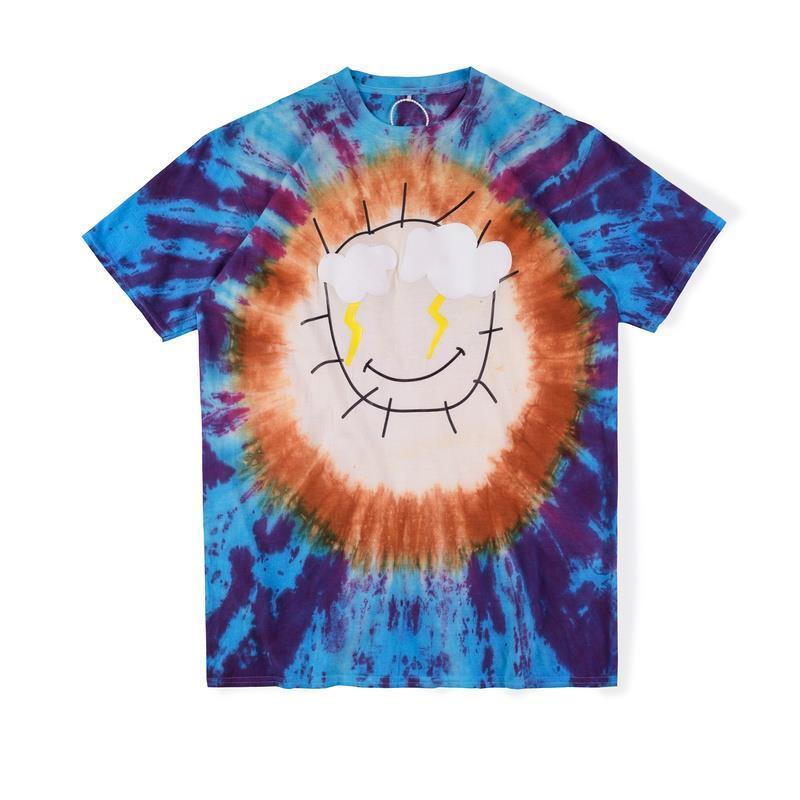 Gömlek Parti Stormi Tee Yüz Sıcak Dünya Kravat Ins Mavi Rahat Boya 2021 Kaykay Erkek Gülümseme T Tasarımcı Kadınlar Sokak 2 Tshirt Livxi