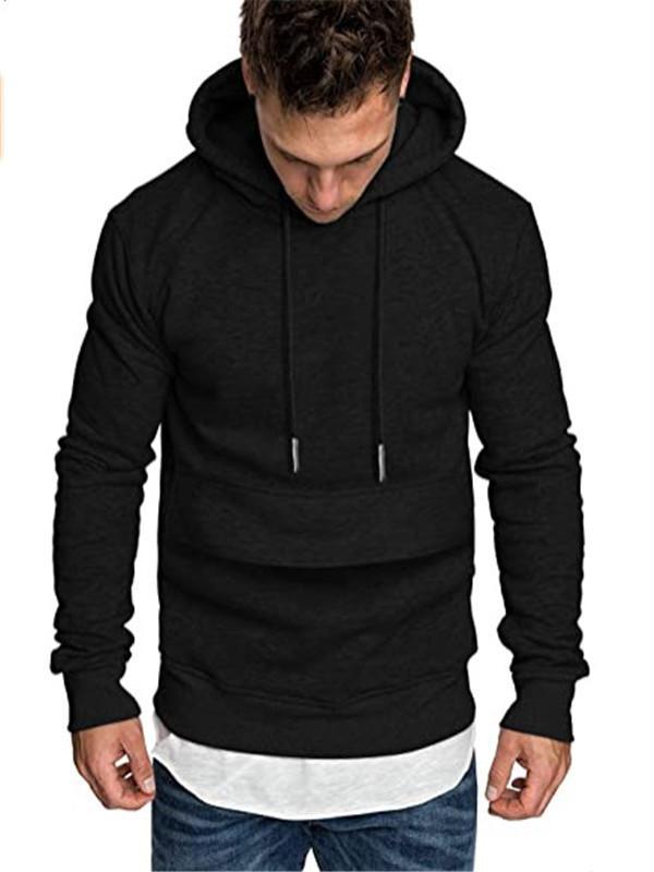 Herren Hoodies Casual Mode Massivfarbe Mit Kapuze Sweatshirt Hip Hop Sportswear Trainingsanzug für Männer
