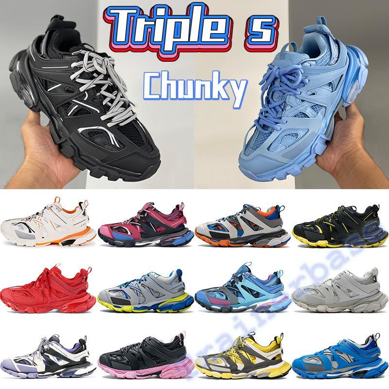 Triple S 3.0 Chunky Casual Schuhe Männer Frauen DAD Turnschuhe Schwarz Weiß Runner Blue Trainer Rote Royal Grey Platform Herrenhöhe Erhöhen Trainer