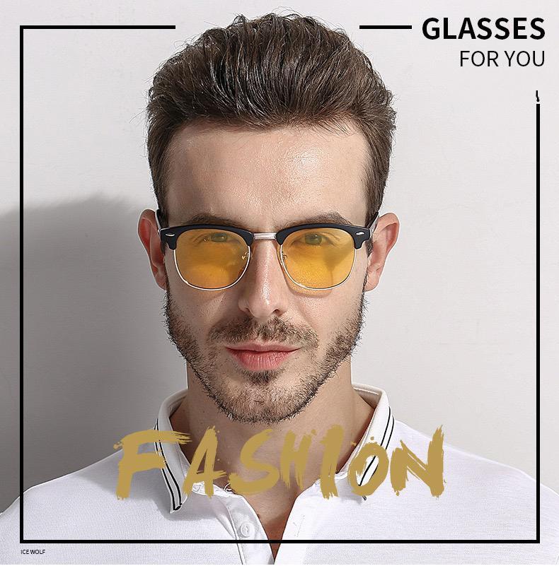 3016 Super heiße Eyewear Linsen Sonnenbrille Männer Farbe Wechseln Fahren Sonnenbrille Gentleman Hübsche Modesportarten