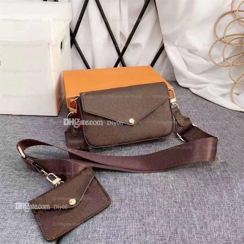 Moda Couro Womens Luxurys Designers Messenger Homens M80091 Cintura Mini Ombro Crossbody Bolsa Cadeia Bolsas + Carteira Sacos 2021