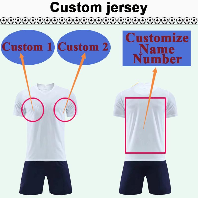 Custom National Team Club Hommes Soccer Jersey Kit Vous pouvez personnaliser les chemises de football design Nom et numéro tels que 48 Kunming