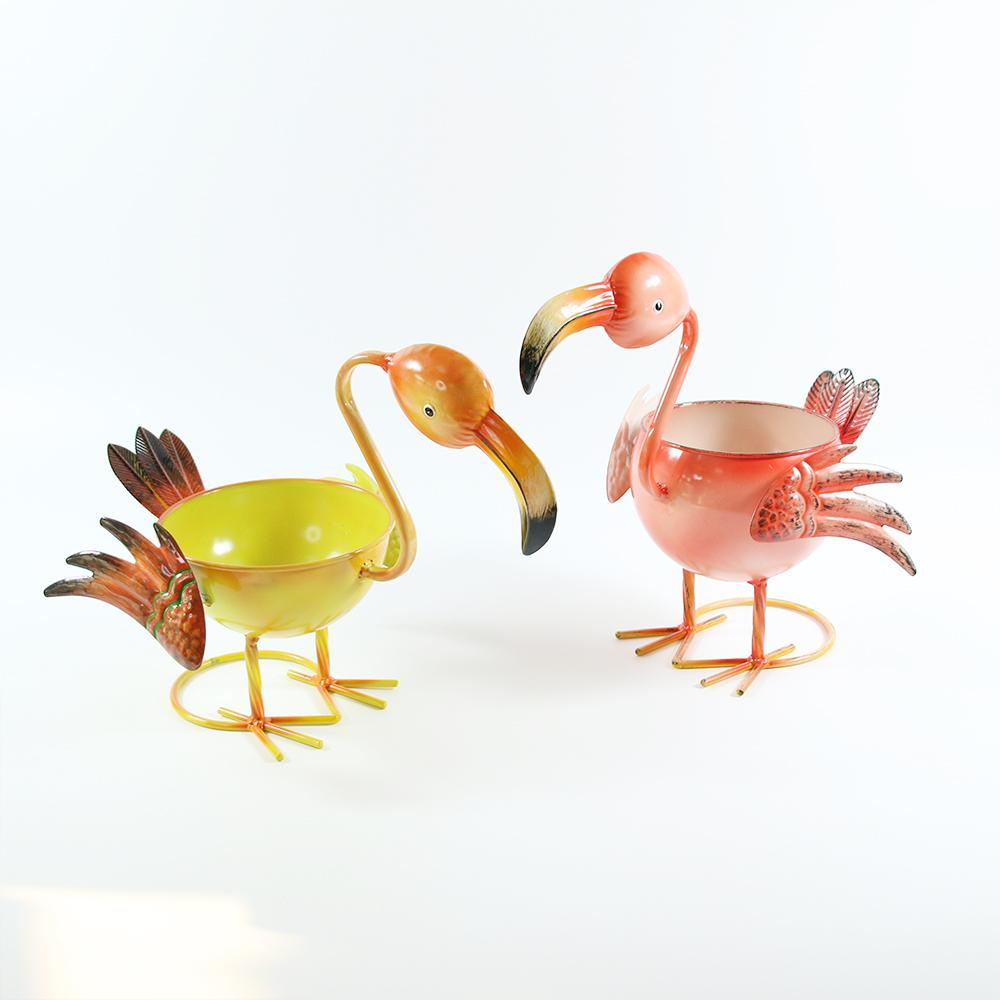 2 pieces of flamingo creative multi meat plant flower pot home garden decoration vase cartoon animal table decoration