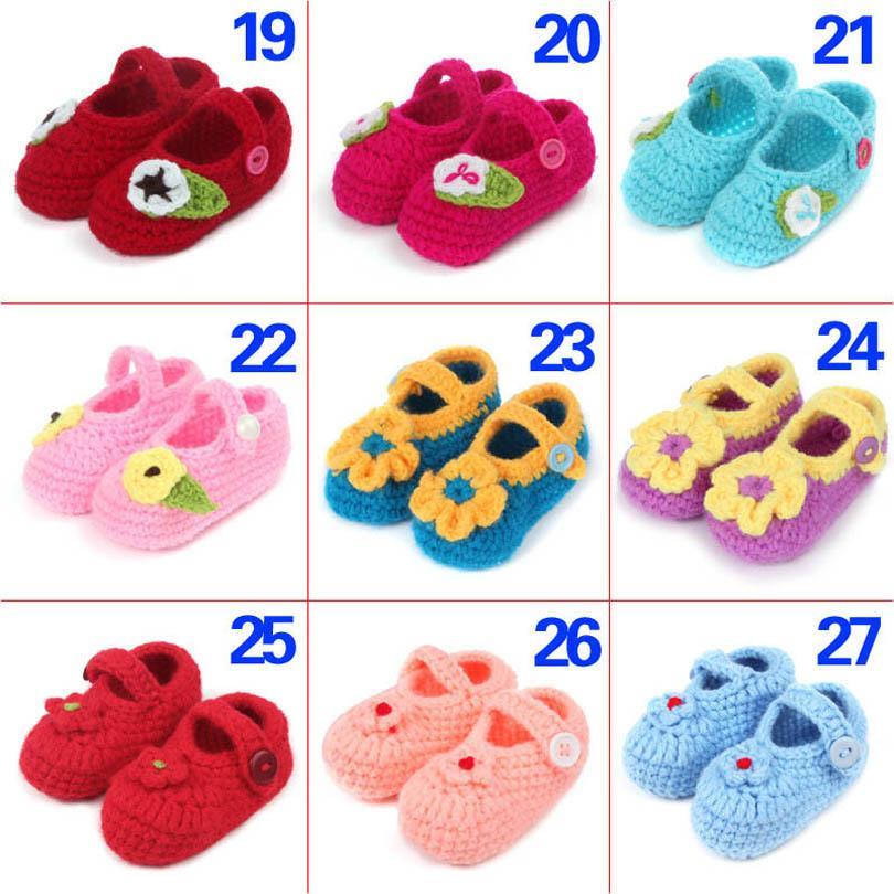 طفل أول مشوا أحذية الوليد طفل الرضع الفتيات الأحذية اليد محبوك الصوف الكرتون القوس زهرة الفتيان الأخفاف لينة B6701