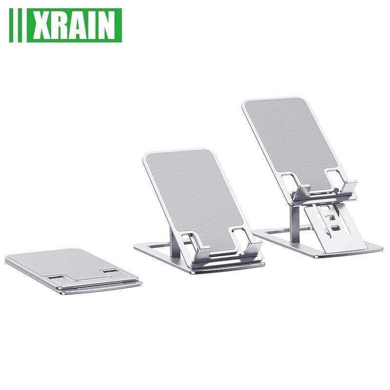Supports de téléphone portable Supports de tablette d'alliage d'aluminium Table de support de table de bureau pliable Prendre la prise en charge du support de bureau mobile iPad
