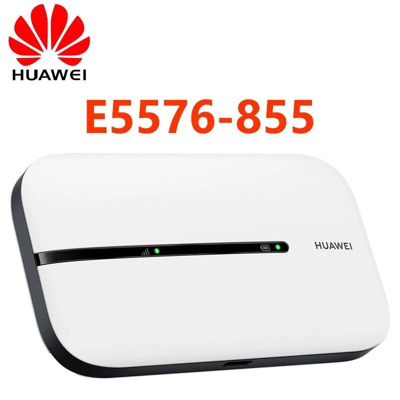 2020 Dernier routeur Huawei 4G Mobile WiFi E5576-855 Déverrouillé 4G LTE Packet Accès Mobile HotSpot Modem sans fil 2.4GHz 1500mAh