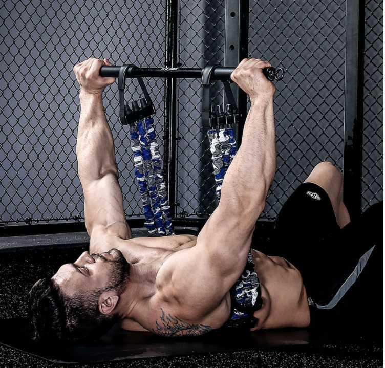 Einstellbar mit Eisenstangengummi-Push-up-Bands ziehen Seil für Brustarm Home Gym Muskelfestigkeit Übung Training