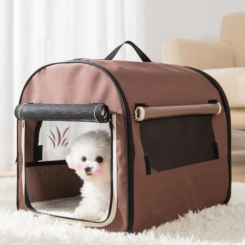 Portable Dog Carrier Bag Pet Car Travel Crates Vehicle Folding Soft Bed Collapsible Kennel House for Small Medium Puppy Cats