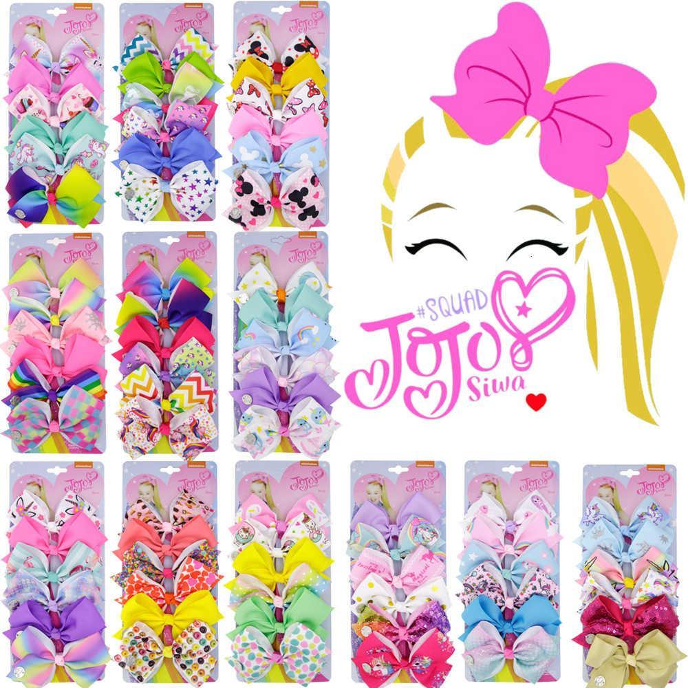 Beliebte Kindermode-Haarnadel 6 Sets Jojo Girl's Swallow Tail Bogen Papierkartenkopf