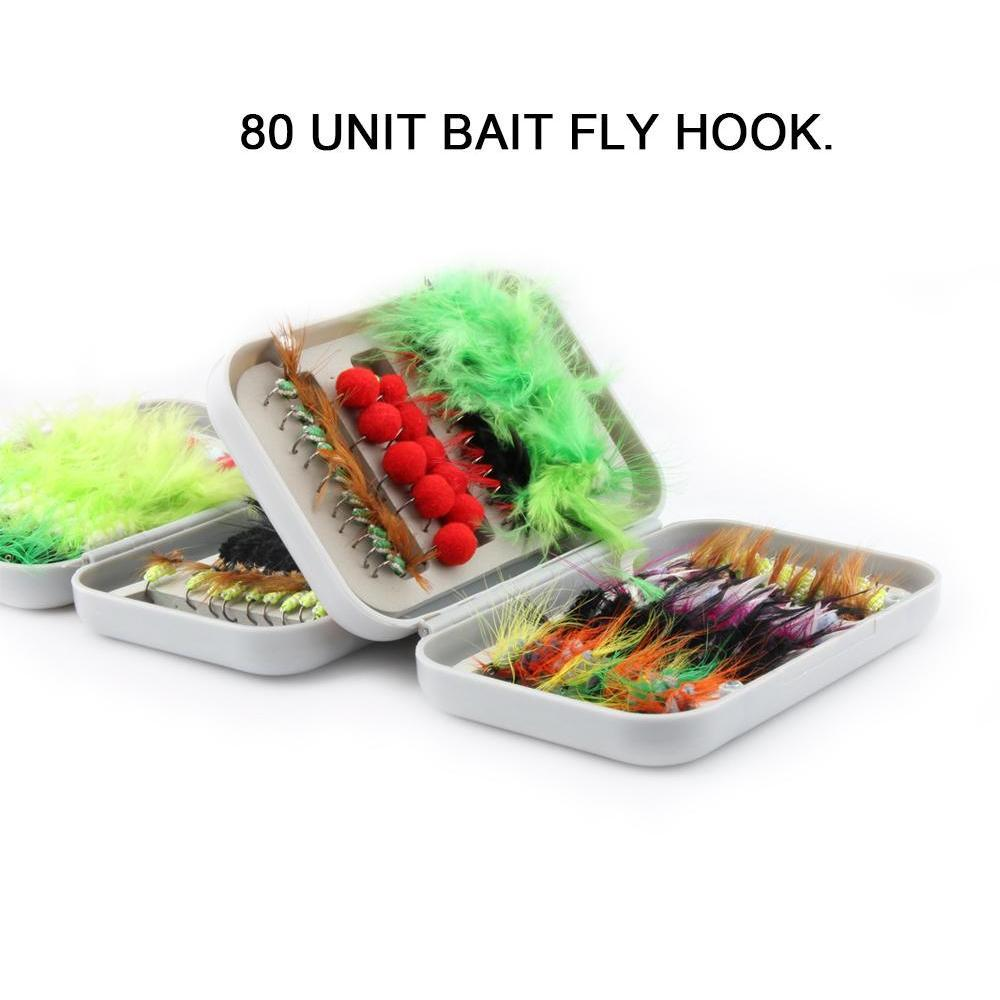 80pcs Dry Fly Fishing Lure Set With Box Artificial Trout Carp Bass Butterfly Insect Bait Freshwater Saltwate jlltCD warmslove