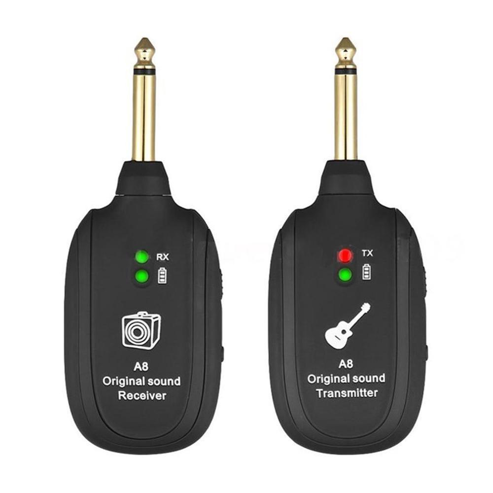 Système de transmission sans fil Guitare TransmetteurReceiver Instrument de musique électrique Récepteur A8 Récepteur A8