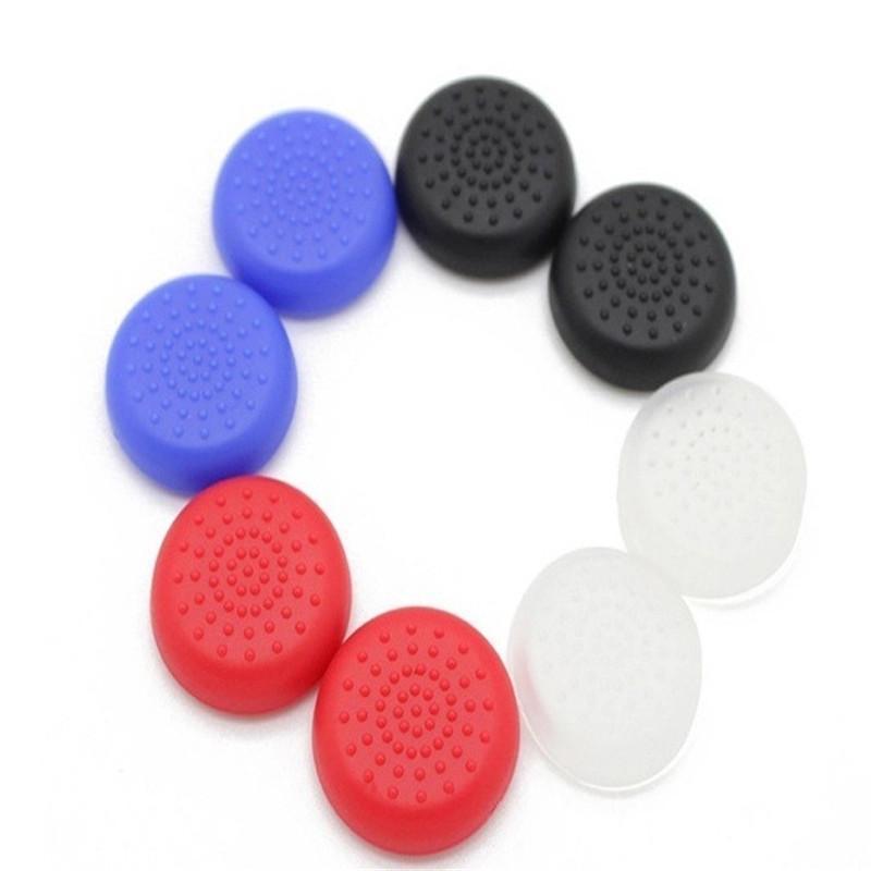 العديد من الألوان TPU التناظرية غطاء الجلد الإبهام عصا قبضة عصا التحكم قبعات القضية ل ps4 تحكم