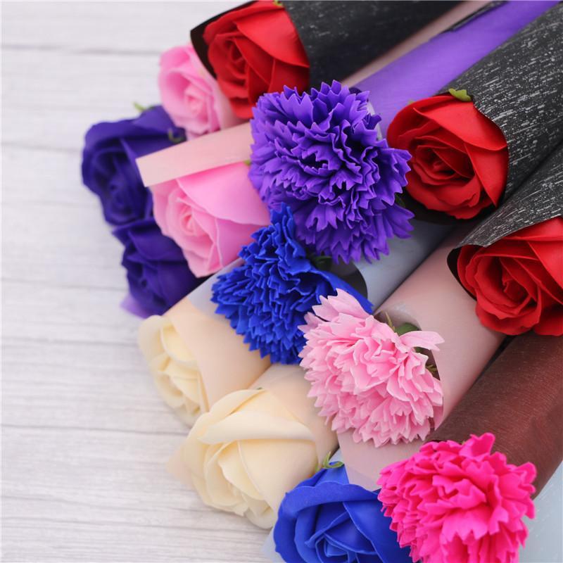 Гвоздики розы мыло цветы творческие романтические свадьбы благополучие розовые мыла цветок для валентинок подарок день десекурс дневных подарков праздничные