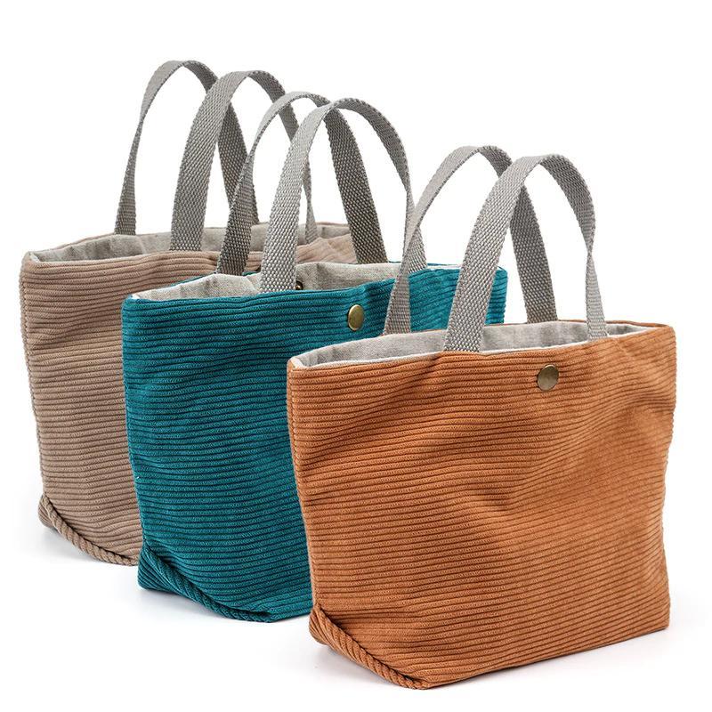 Neue heiße Einkaufstaschen Kleine Größe Premium Quality Leichte Pflicht Falten Tote Bagmultifunktionale Leinwandeinkaufstasche Neue Retro Damen Handtaschen C