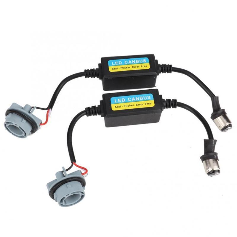 Other Lighting System 2pcs Car BAY15D 1157 LED Turn Signal Canbus Error Free Anti Flicker Resistor Decoder Light Warning Canceller Accessori