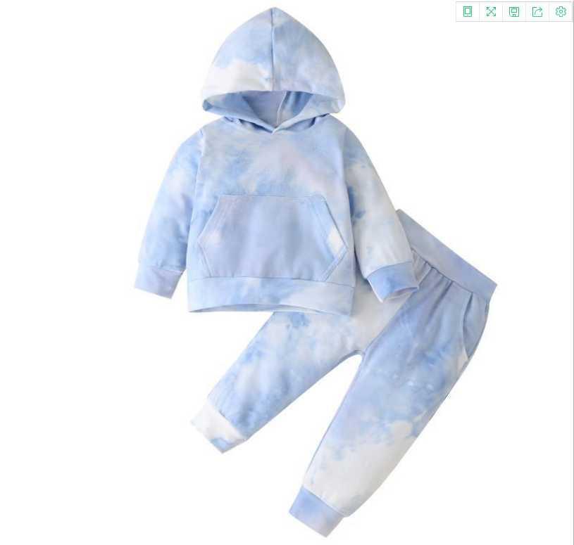 100% Pamuk Çocuk Giysileri Erkek Kız Giyim Seti Eşofman Spor Uzun Kollu Kazak + Çocuklar Için Pantolon Set