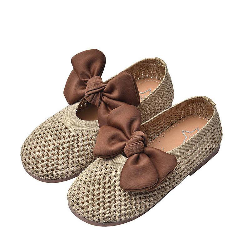 Girls Shoes Baby Shoes Bows Kids Shoes Spring Summer Fashion Princess Dance Toddler Footwear Girls Wear B3947