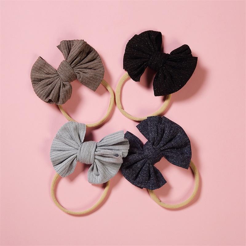 귀여운 큰 나비 헤어 밴드 아기 소녀 유아 아이 탄성 머리띠 매듭 나일론 터번 머리 랩 나비 매듭 머리 액세서리 104 Y2