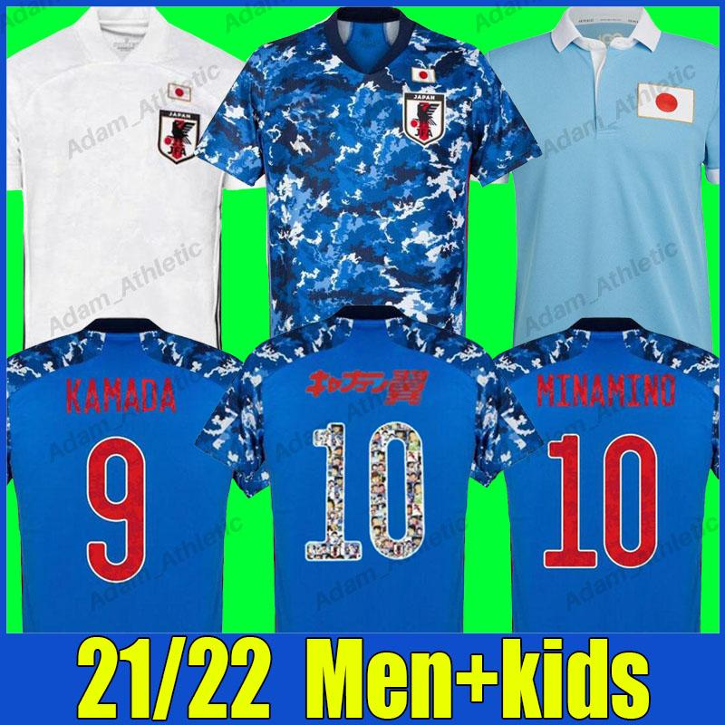 Japan Soccer Jerseys 100th Anniversary Shirt Do Doan Minamino Kamada Camicie da calcio Tsubasa Atom Jersey Nagatomo Endo Shoya Kubo National Team Uniformi Uomo Kit per bambini