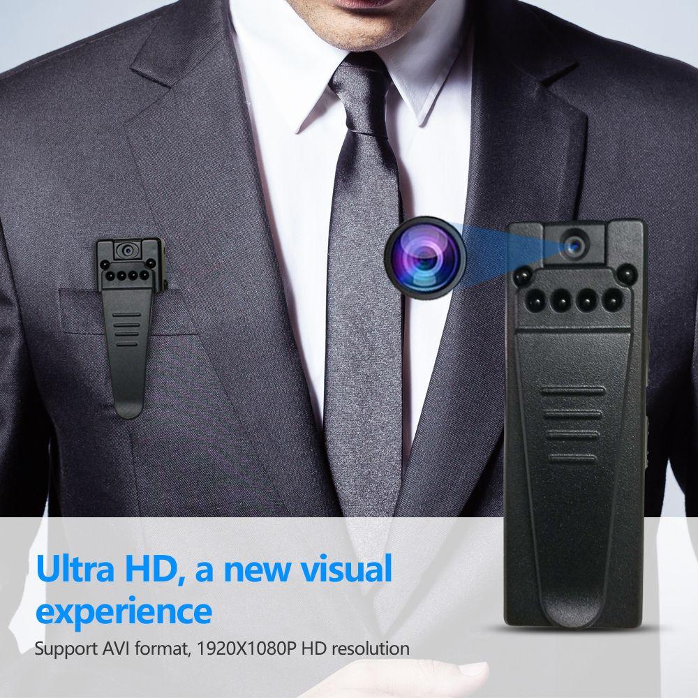 HD 1080P Mini cámara corporal, grabadora de video portátil inalámbrica con clip, detección de movimiento Cámara DV Micro Videocámara