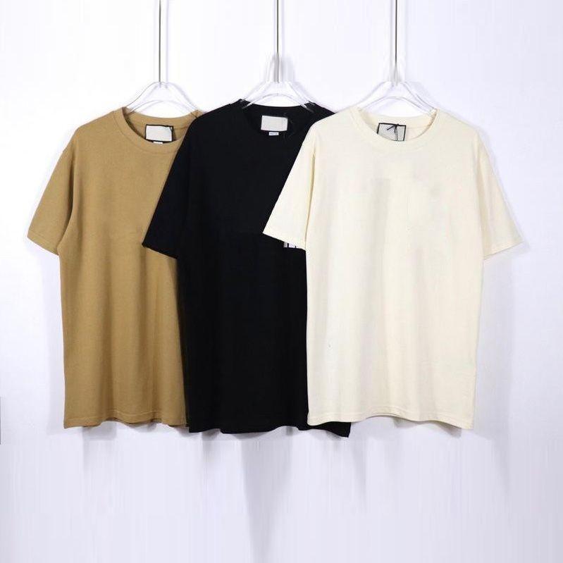 Erkek T Gömlek Moda Erkekler Siyah Tişörtleri Üst Kısa Kollu kadın Rahat Tees Hip Hop Streetwear Tops ST202105