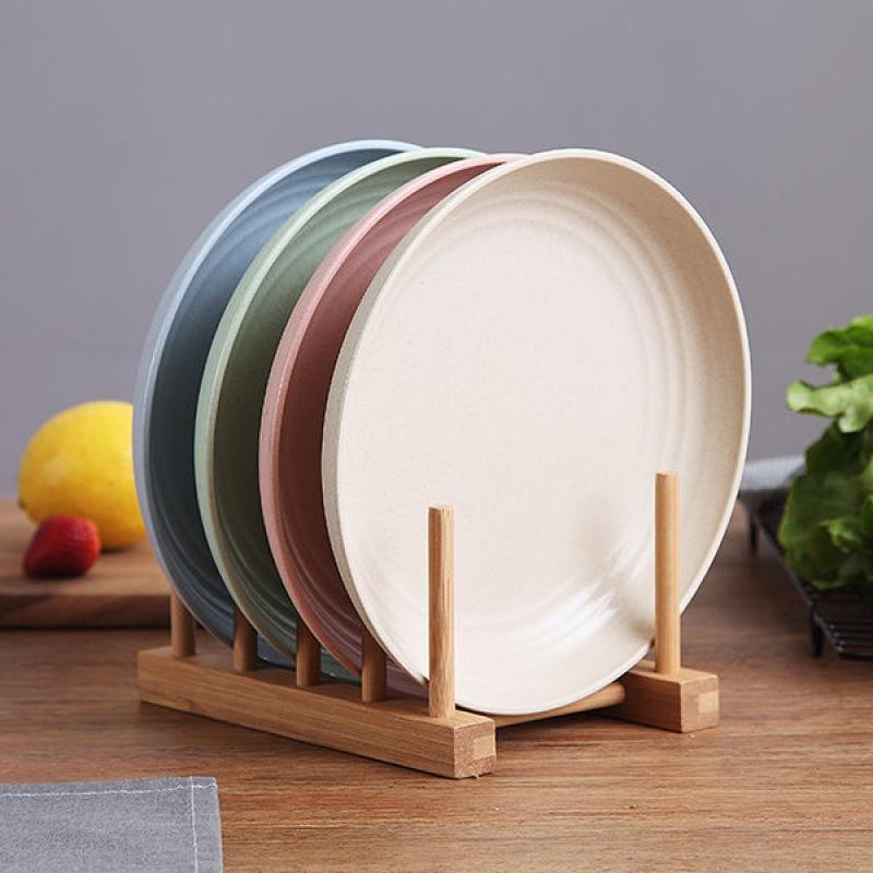 Plates Plaques Creative Ménage Plat plat Ensemble Simple Vaisselle de paille de blé rouge Nordic Style Nordic Style Dîner