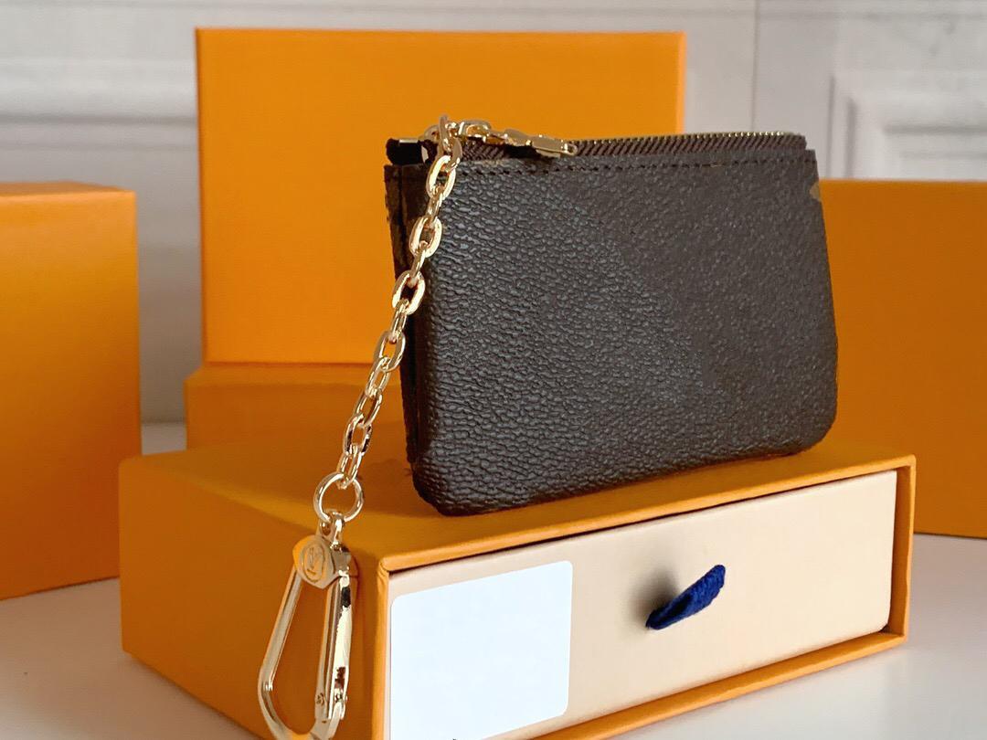 Original de Alta Qualidade Luxurys Designers Carteiras Damier Canvas Saco De Couro Pequeno Monogrames Carteira Clássico Zíper Bolso Chave Chave Bolsa Pallas