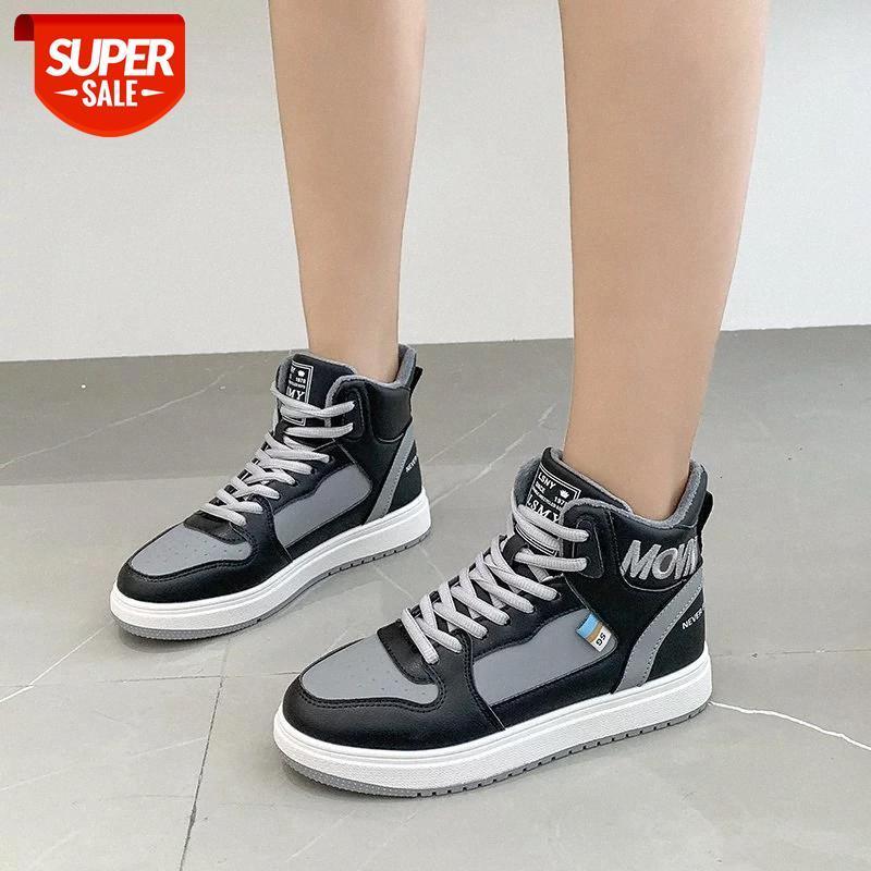 Мода круглый носок кружева вверх плоская обувь женская платформа нескользящая спортивная повседневная обувь женщина с низким каблуком одиночный Zapatillas Mujer # RP7C