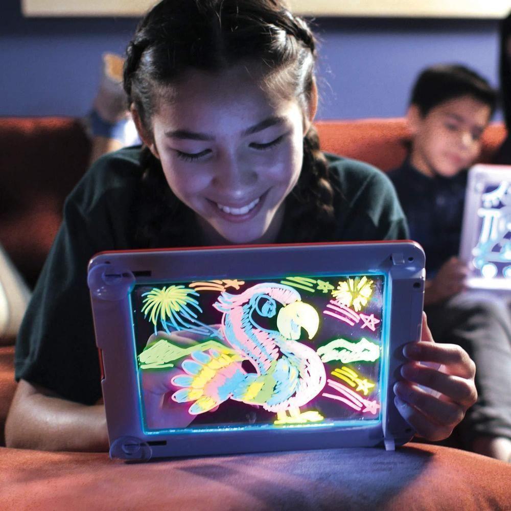 3d ماجيك الرسم وسادة 8 تأثيرات ضوء لغز مجلس 3d سحر اللوحي الإبداعية الاطفال القلم هدية المصابيح أضواء توهج الفن الرسم اللعب Q0313